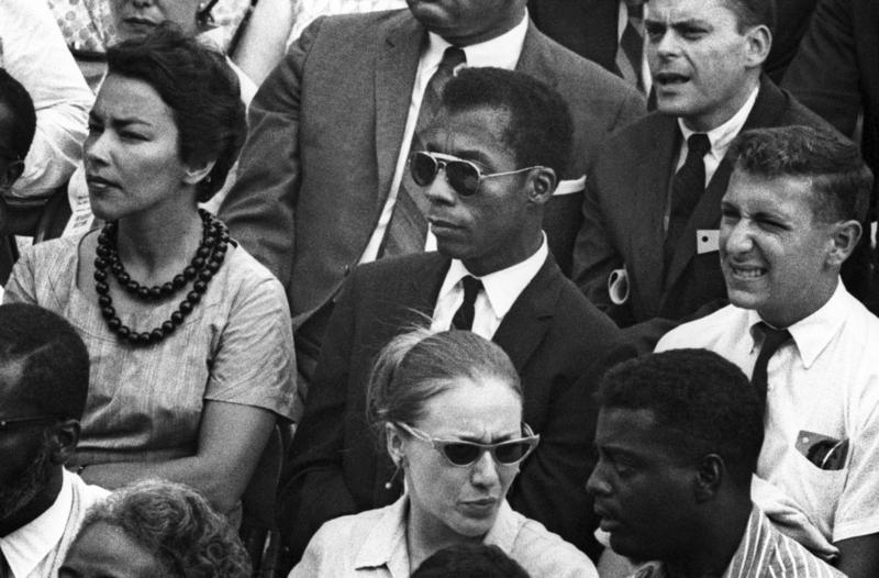 James Baldwin in the crowd at the March on Washington for Jobs and Freedom, 28 August 1963, Washington