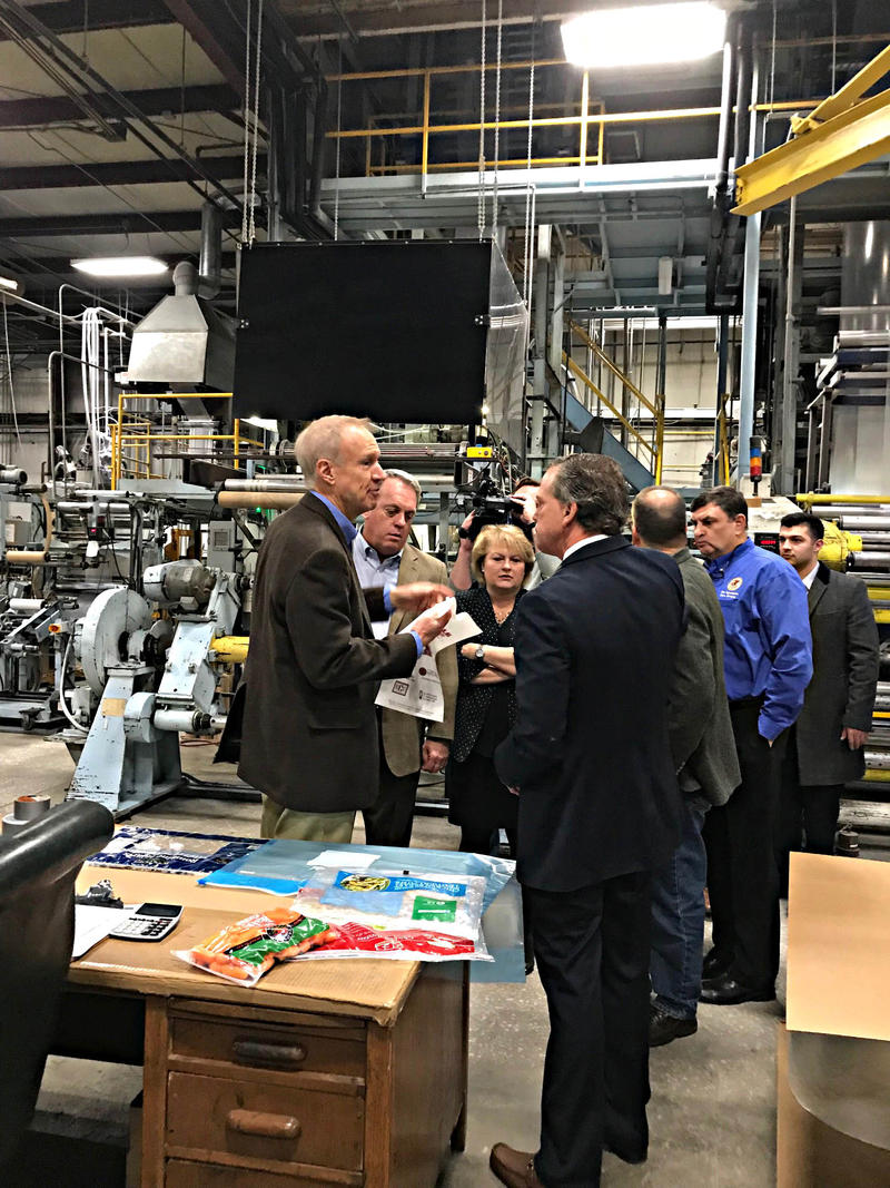 Illinois Governor Bruce Rauner And Southern Illinois Lawmakers Visited Com-Pac International In Carbondale On Thursday February 1st, 2018.