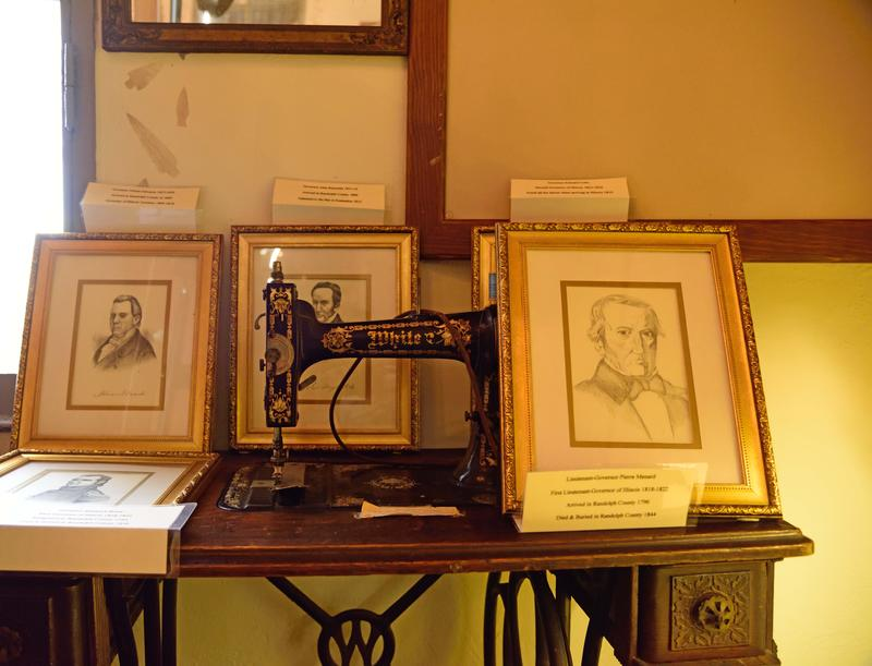 A Selection Of Period Items From The Time That Kaskaskia Was The Capitol Of Illinois.