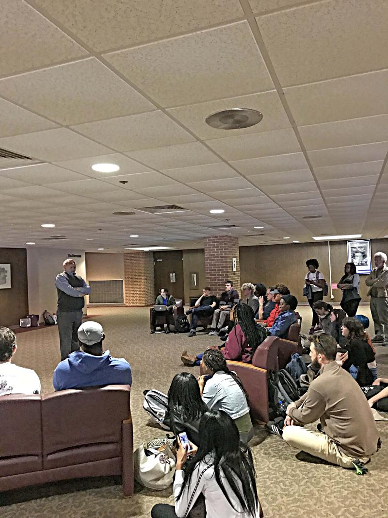 Father Joseph Brown, Of The Africana Studies Program At SIU Carbondale Speaks At A Teach-In Wednesday April 11th, 2018.