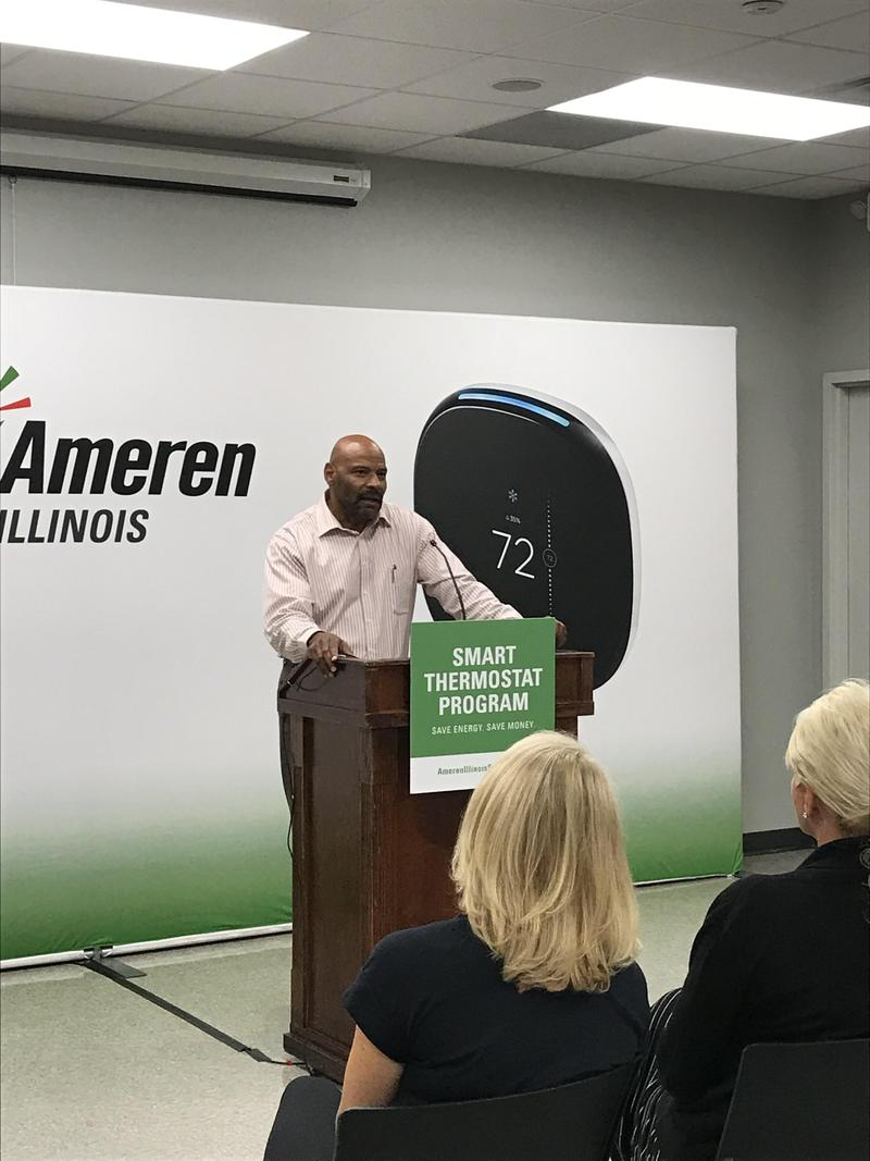 Ray Riddle, A Division Director With Ameren Illinois Speaks At A Media Event On Thursday May 17th, 2018.