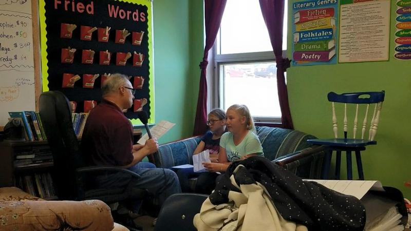 WSIU's Kevin Boucher Interviews 5th Grade Students In Kelly Flamm's Class In Cobden On May 10th, 2018.