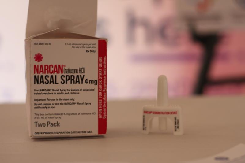 Box of Narcan medication