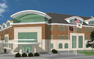 Architectural rendering of new SIUC Student Services building