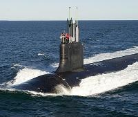 A Virginia Class submarine similar to the new USS Illinois