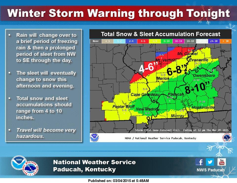 Winter Storm Warning: Region Under Winter Storm Warning Until Early Thursday