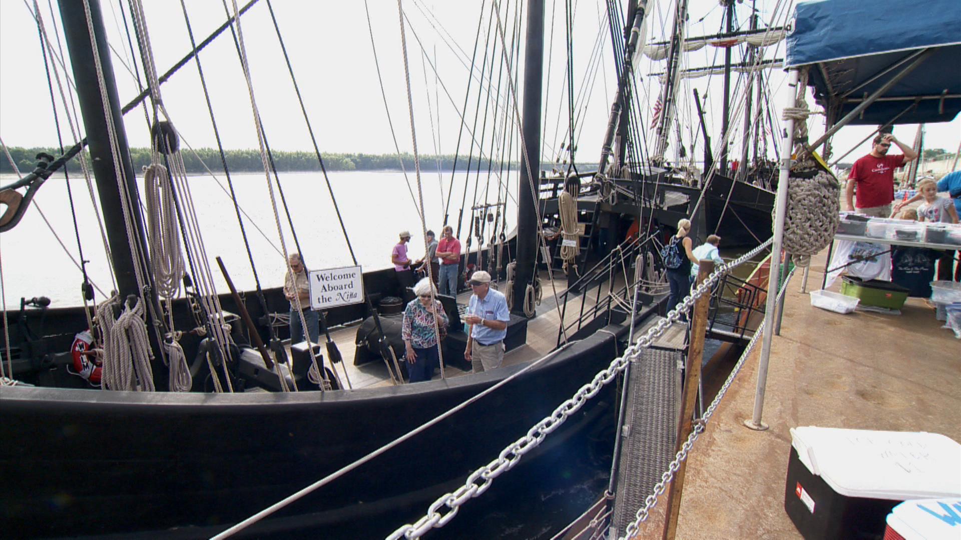 replicas of columbus u0027 ships make a stop in cape girardeau wsiu