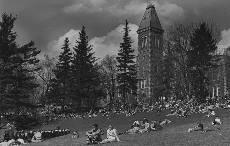 On the lawn at Cornell University in 1950.
