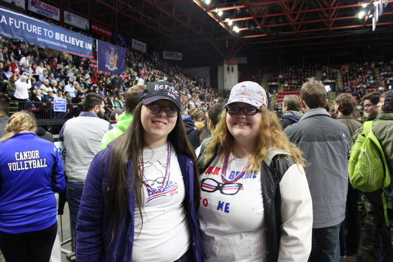 Nachelle Misner and Grace Webster, shown here in full support of Bernie.