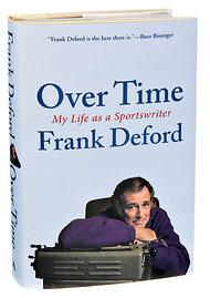 "book cover ""Over Time, My Life as a Sports Writer"""