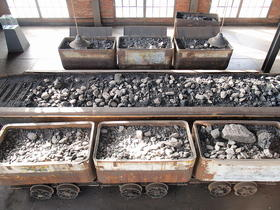 coal in transport bins