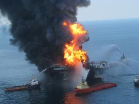 BP is urging a judge to rule on a claim by the oil company that the government overestimated the size of the 2010 Gulf oil spill.
