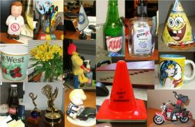 A variety of items on APR desks