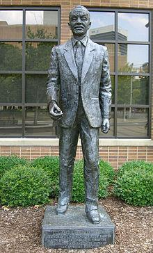 Commemorative statue of Rev. Shuttlesworth located in front of the Birmingham Civil Rights Institute.