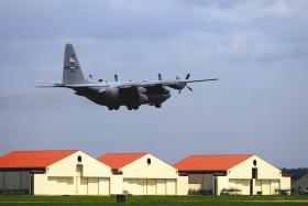 908th Airlift Wing C-130 over Maxwell AFB Alabama