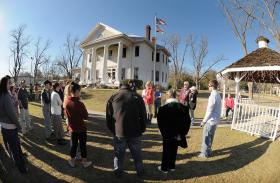 A vigil in Midland City Saturday afternoon for the driver, abductor and child at the center of the days-long standoff.