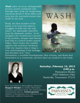 """""""Wash"""": A Novel by Margaret Wrinkle"""