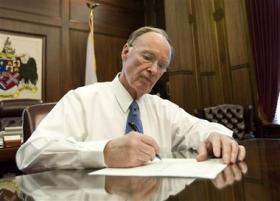 Gov. Robert Bentley says he's against switching back to the electric chair to resume executions in Alabama.