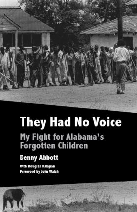 "Book cover for ""They Had No Voice"" featuring a black and white photo from the 1960s."