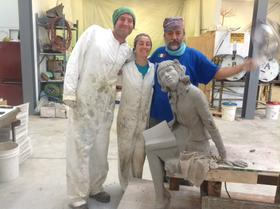 Work on the bronze and steel sculpture is being done in Berkeley, Calif. Birmingham native and sculptor Elizabeth MacQueen created the design for the memorial.