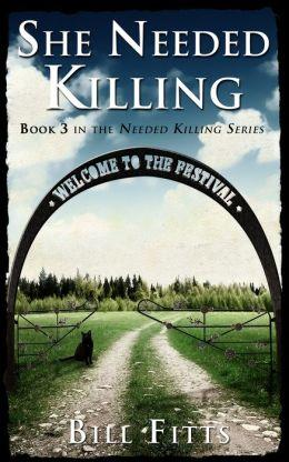 """Book cover image of gates next to an empty field with an arched banner reading """"Welcome to the Festival"""""""