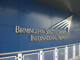 New flight information display boards are now being installed at the Birmingham-Shuttlesworth International Airport.
