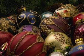 Picture of christmas tree ornaments