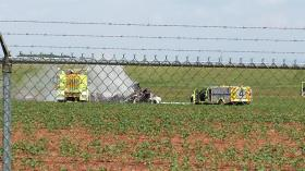 The fiery crash plane crash at Huntsville International Airport killed three people Wednesday.