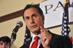 Gary Palmer talks to supporters at a hotel on Tuesday in Birmingham. Palmer came from far behind to defeat state Rep. Paul DeMarco in the Republican runoff in Alabama's 6th Congressional District.