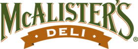 Green, gold and tan logo for McAlister's Deli