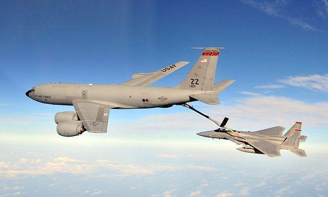 photo of military plane - KC-135 Stratotanker