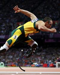 "Oscar Pistorius, aka the ""Blade Runner,"" was the first amputee runner to compete in the Olympics and will be competing in this year's Paralympics as well."
