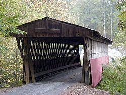 The Easley Covered Bridge near Rosa, Alabama.