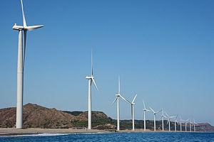 Bangui Wind Farm in the Philippines.