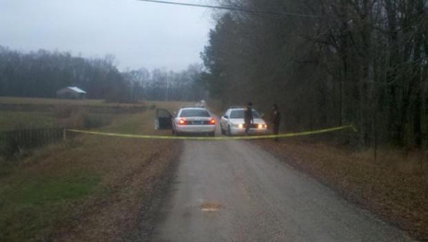 Scene near plane crash in Jasper, Ala.