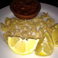plate of Calamari with lemon