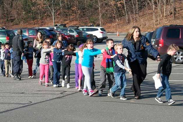 Sandy Hook Elementary on the morning of the shooting that took place in Newtown, CT.