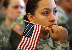 Military officials say women now make up about 15% of the country's 1.4 million service members.