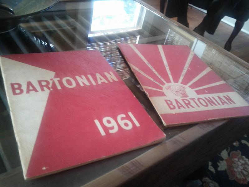 Linda Grill's old yearbooks from the early '60s.
