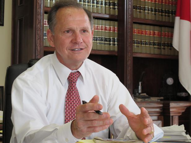 Alabama Chief Justice Roy Moore.