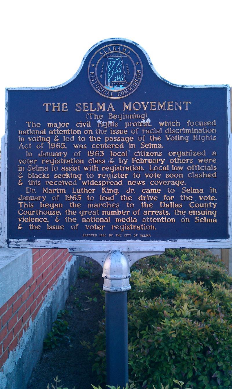 Selma Historic Marker