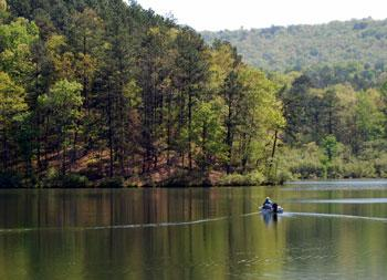Lunker Lake at Oak Mountain State Park.