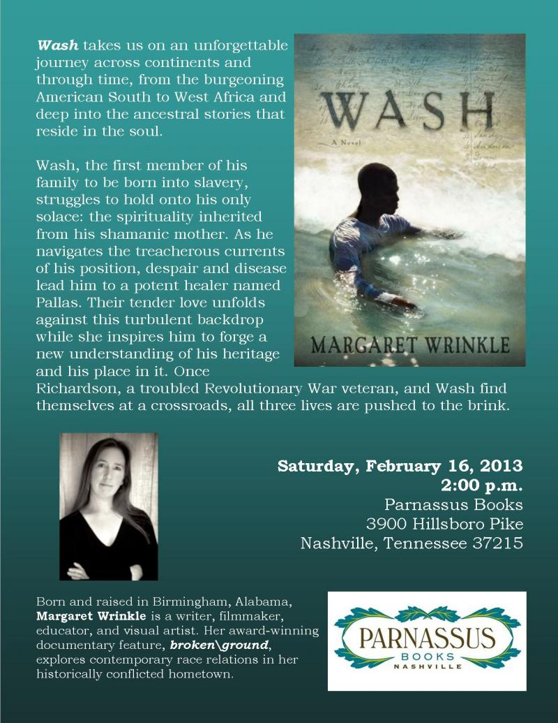"""Wash"": A Novel by Margaret Wrinkle"