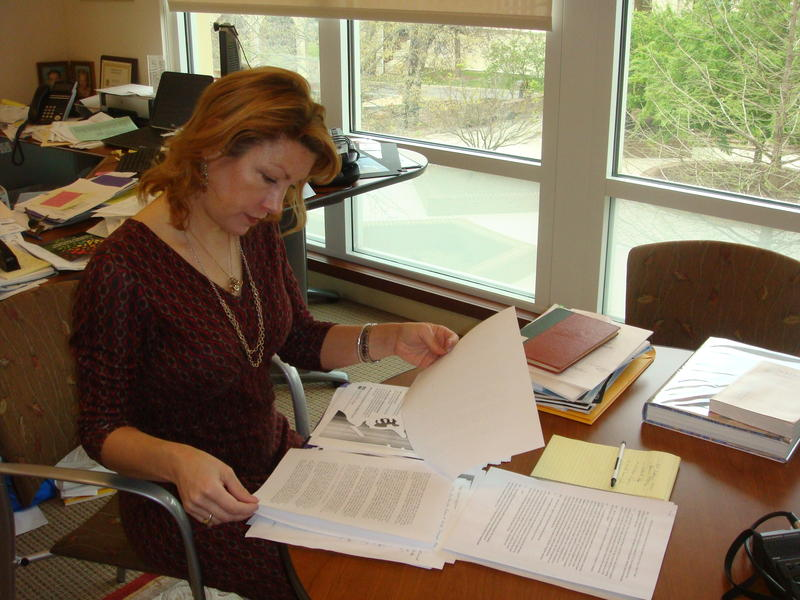 Gentry Holbert is Spring Hill College's Library Director. She found phone recordings between Father Albert Foley and Dr. Martin Luther King, Jr. provided to APR News.