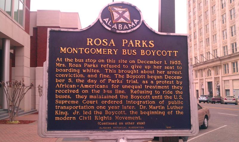 Rosa Parks Historic Marker