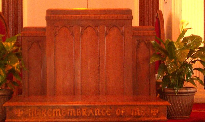 Pulpit used by Dr Martin Luther King Jr