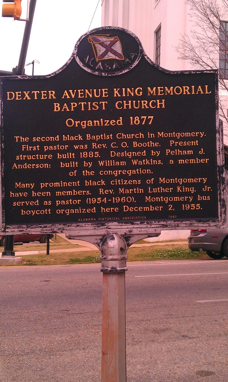 Dexter Avenue King Memorial Baptist Church Historic Marker