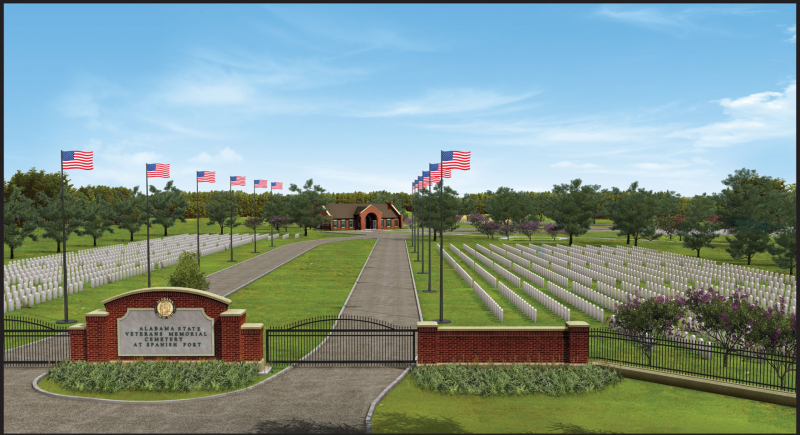 Alabama's new Veterans Memorial Cemetery in Spanish Fort.