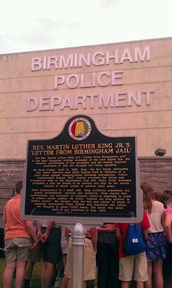Historic Marker in front of the old Birmingham Jail