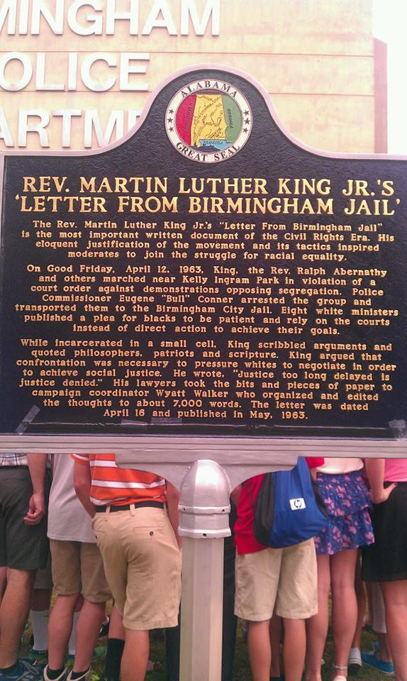 Historic Marker at the old Birmingham Jail